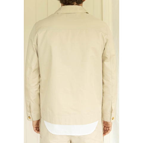 Organic Cotton Workwear Jacket, Sand