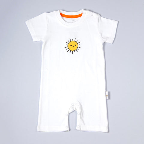 Organic Short Sleeved Baby Rompers