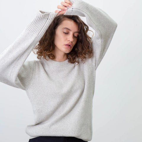 Recycled Cashmere Sweater, Cloud - BuyMeOnce Direct - BuyMeOnce UK