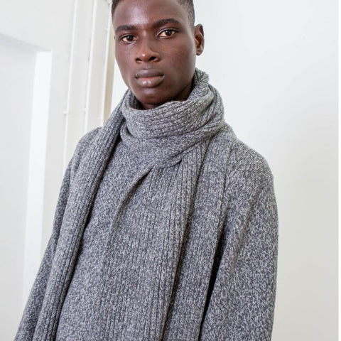 Recycled Cashmere Scarf, Charcoal - BuyMeOnce Direct - BuyMeOnce UK