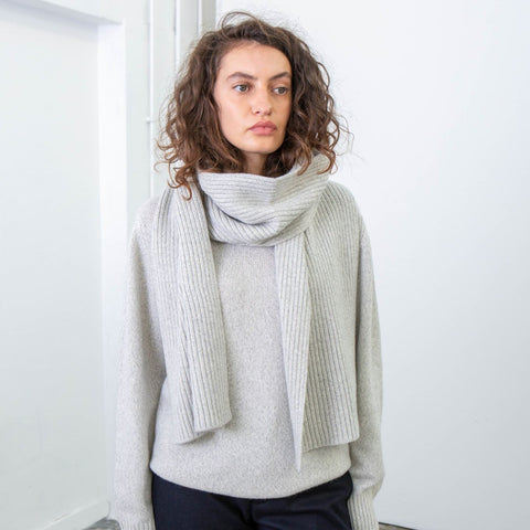 Recycled Cashmere Scarf, Cloud - BuyMeOnce Direct - BuyMeOnce UK
