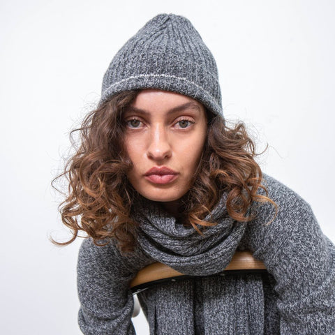 Recycled Cashmere Beanie, Charcoal - BuyMeOnce Direct - BuyMeOnce UK