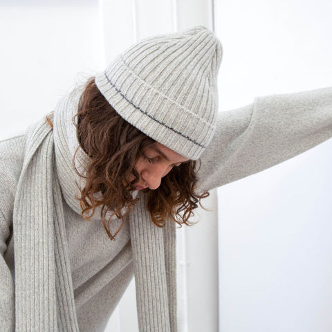Recycled Cashmere Beanie, Cloud - BuyMeOnce Direct - BuyMeOnce UK