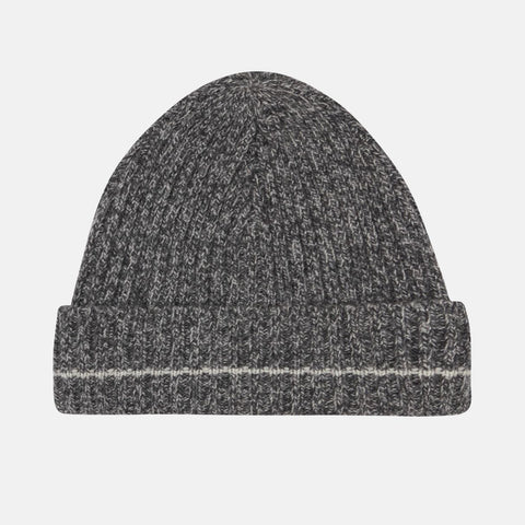 Recycled Cashmere Beanie, Charcoal