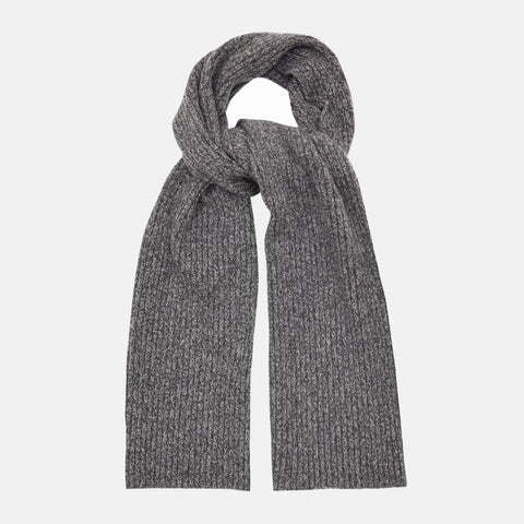 Recycled Cashmere Scarf, Charcoal