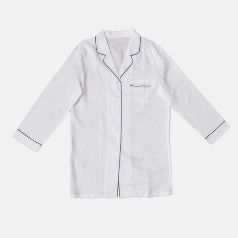 White Linen Night Shirt - BuyMeOnce Direct - BuyMeOnce UK