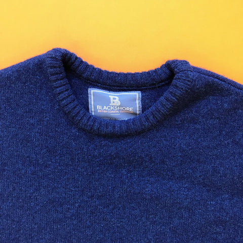 Crewman Lambswool Ocean Blue Sweater -  - BuyMeOnce UK