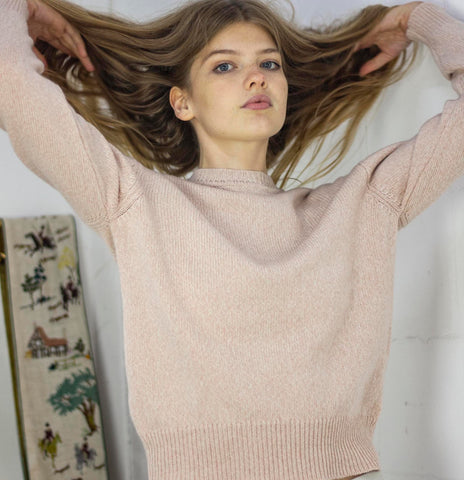 Sandy Pink Recycled Cashmere Sweater
