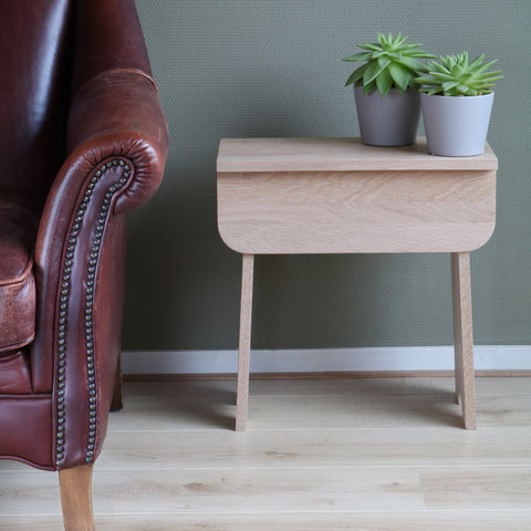 Shaker Stool, Solid Oak