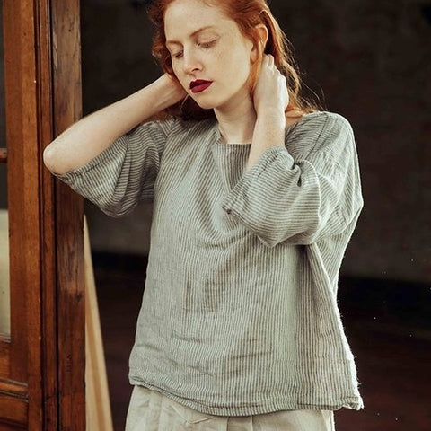 Linen T-Shaped Top
