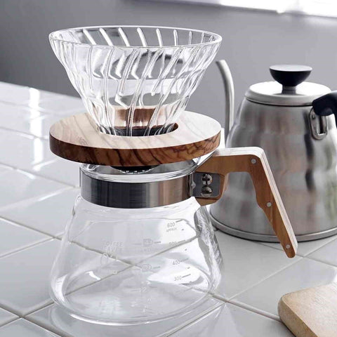 V60 Olive Wood and Glass Coffee Dripper 02 -  - BuyMeOnce UK