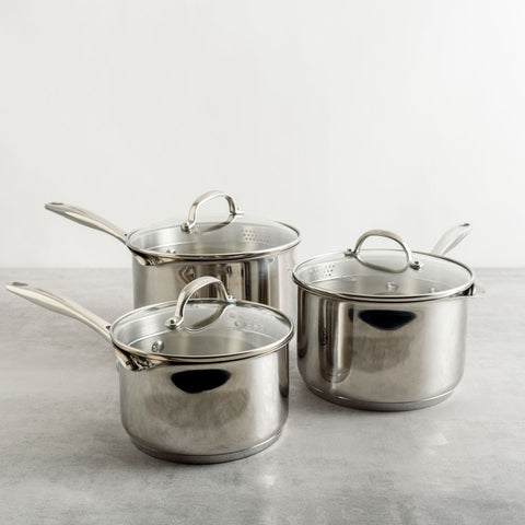 7000 3 Piece Draining Saucepan Set