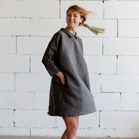 3/4 Sleeve Linen Dress