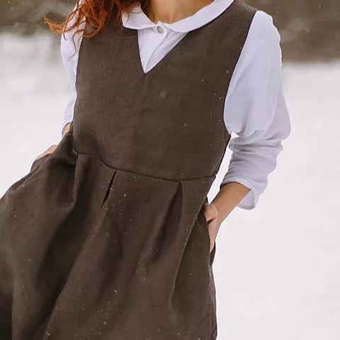 Linen Pinafore Dress - BuyMeOnce Direct - BuyMeOnce UK