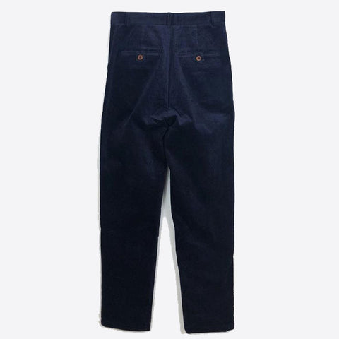 Corduroy Peg Leg Trousers, Navy -  - BuyMeOnce UK