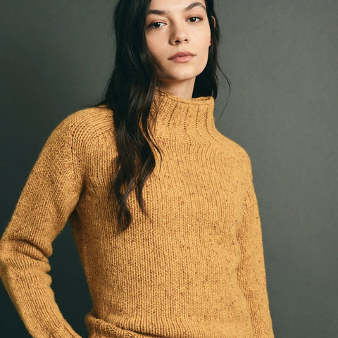 Gold Cashmere Blend Funnel Neck Jumper -  - BuyMeOnce UK