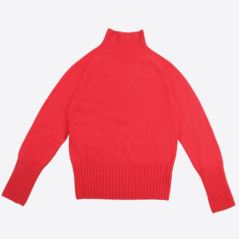 Lambswool Ski Neck, Strawberry