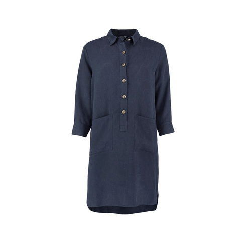 Modal Long Sleeve Shirt Dress