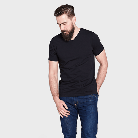 White T-Shirt Co Men's Fitted Short Sleeve V Neck T-shirt | BuyMeOnce.com