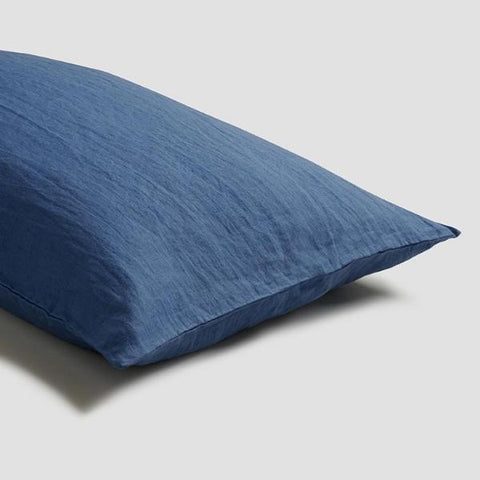 Linen Pillowcase (Pair), Blueberry