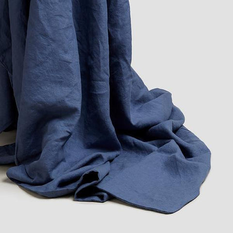 Linen Duvet Cover, Blueberry - BuyMeOnce Direct - BuyMeOnce UK