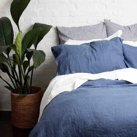 Linen Pillowcase (Pair), Blueberry - BuyMeOnce Direct - BuyMeOnce UK