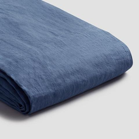 Linen Duvet Cover, Blueberry