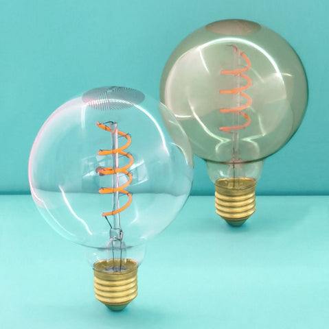 Whirly Wyatt LED Filament Light Bulb
