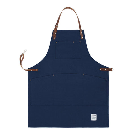 Premium Canvas Apron with Leather, Various Colours