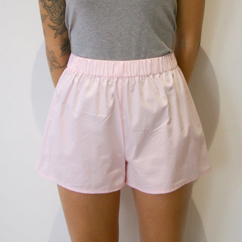 Organic Cotton Women's Poplin Shorts, Pink