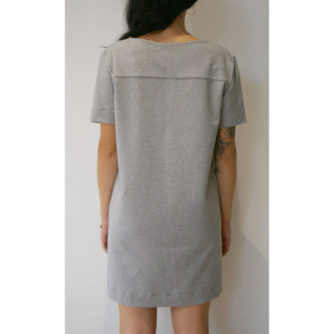 Organic Cotton T-Shirt Dress, Grey -  - BuyMeOnce UK