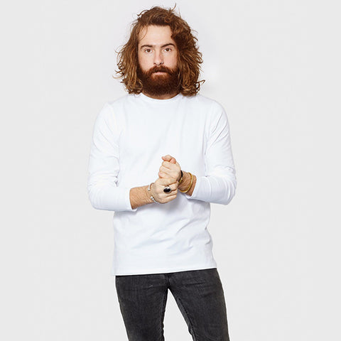 Men's Fitted Long Sleeve Round Neck T-Shirt