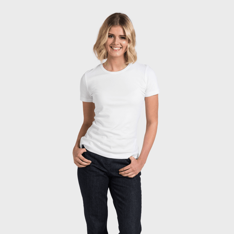 White T-Shirt Co Women‰۪s Relaxed Short Sleeve Round Neck T-shirt | BuyMeOnce.com