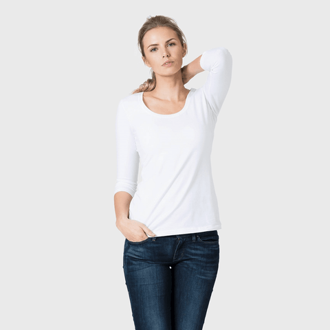 White T-Shirt Co Women's Fitted Scoop Neck T-shirt | BuyMeOnce.com