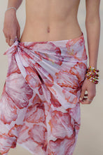 Sarong - Happy Hibiscus - Sunset