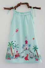 Kid's Dress - Xoa Pea - To the Lighthouse - Aqua