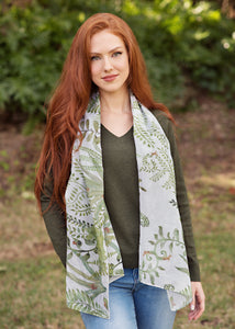 Scarf - Indigo Song - Fern