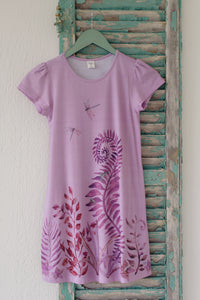 Kid's Dress - Quincy Pea - Ferns - Rose