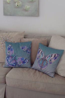 Cushion Cover - Papillon - Aqua