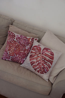 Cushion Cover - Monstera - Sunset