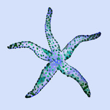 Cushion Cover - Starfish - Indigo