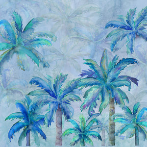 Cushion Cover - Heart of Palms - Blue