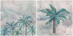 Cushion Cover - Heart of Palms - Aqua