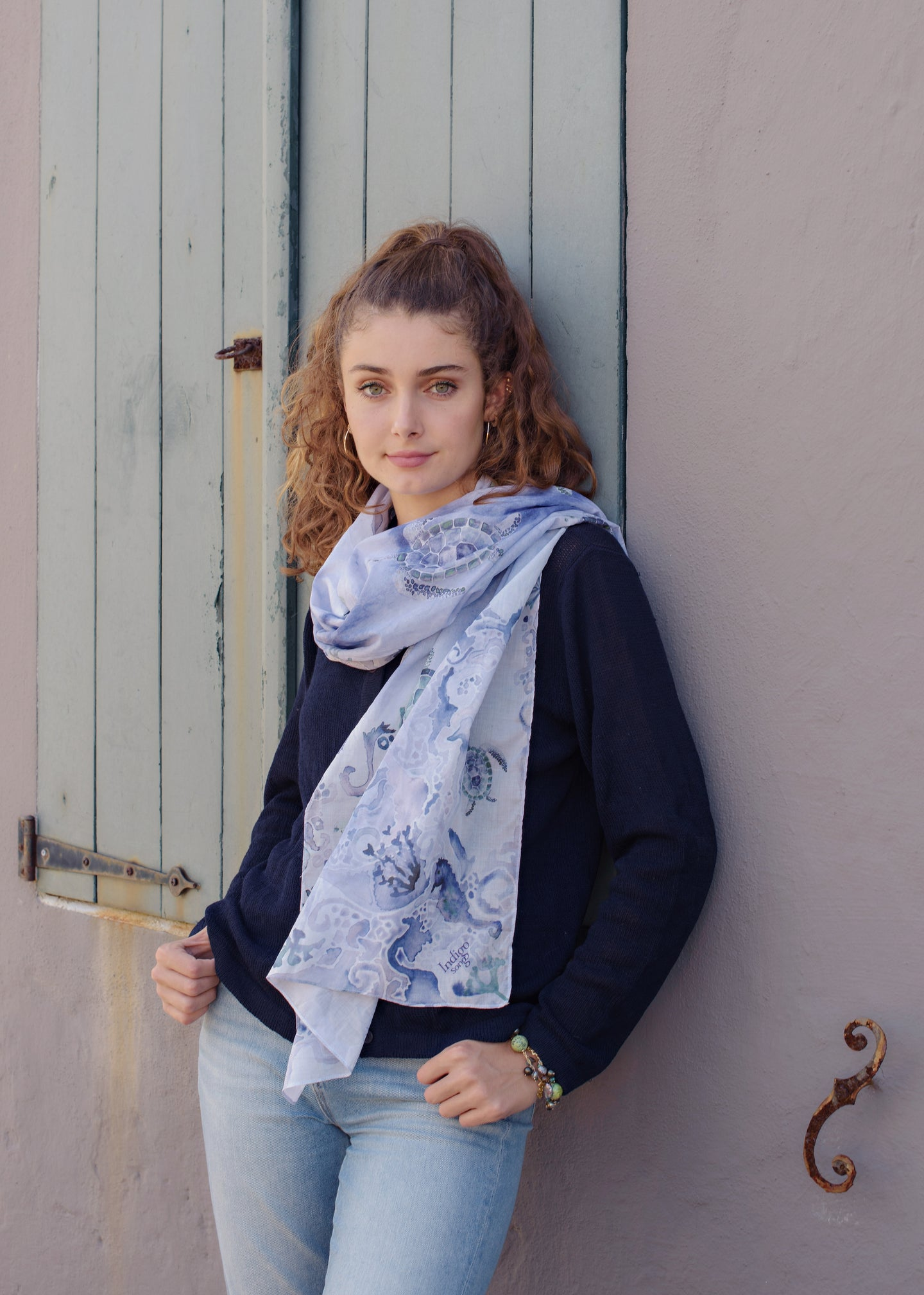 Scarf - Turtle Bay - Navy