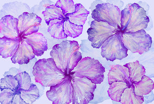 Sarong - Happy Hibiscus - Amethyst