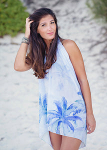 Sarong - Heart of Palms - Indigo