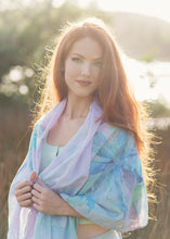 Sarong - Heart of Palms - Aqua
