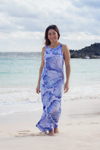 Dress - Quincy - Hibiscus - Indigo
