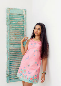 Dress - Xoa Pea - Floral Flutter - Sunset