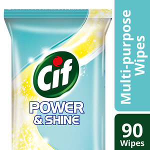 Cif Power & Shine multi-purpose wipes, 90s
